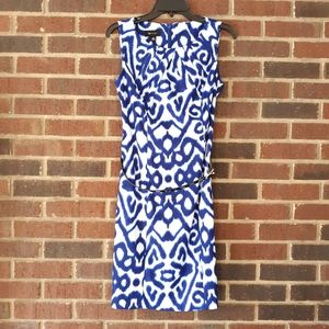 AB Studio Cobalt Blue Shift Dress Size 10